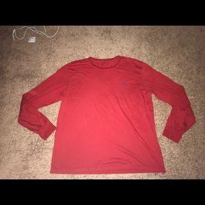Polo Ralph Lauren Men's Dark Red Long Sleeve Large